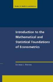 Introduction to the Mathematical and Statistical Foundations of Economics cover